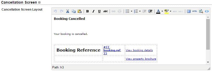 cancellation screen